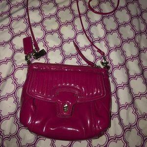 Coach Heart Poppy Hot Pink Crossbody Bag